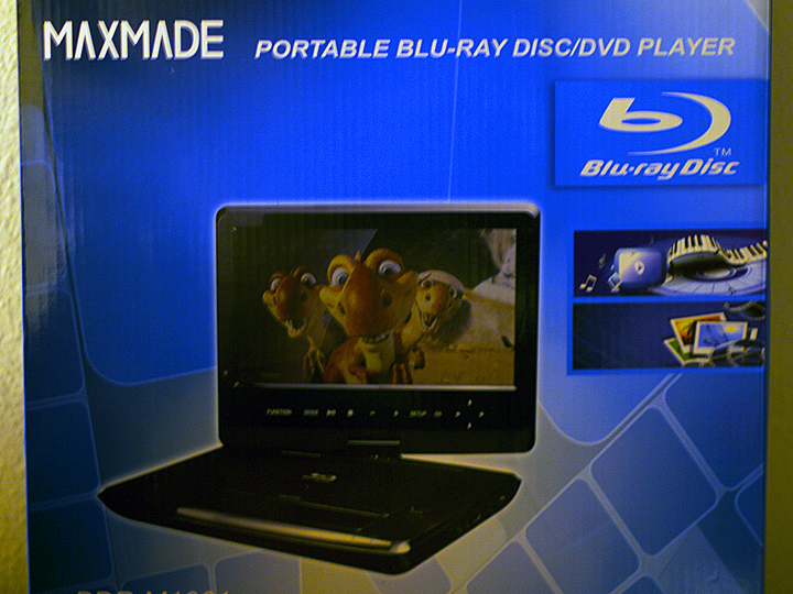 Home Entertainment Reviews: MAXMADE Portable Blu-ray Disc/DVD Player (BDP-M1061)