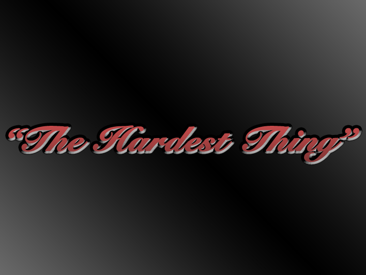 The Hardest Thing by Jennifer Aknin